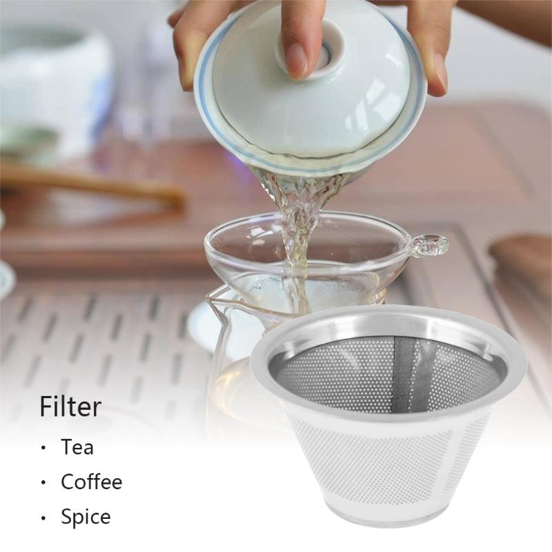 Stainless Steel Mesh Tea Strainer Metal Reusable Tea Leaf Diffuser Accessories Spice Filter for Teapot Kitchen Accessaries