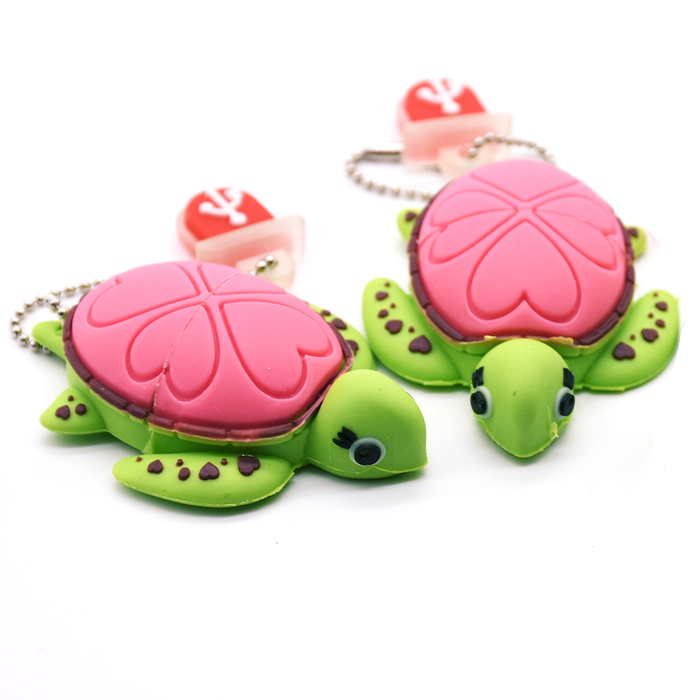 Animal Tortoise USB Flash Drive 4GB 8GB 16GB 32G 64GB Cartoon Turtle Pen Drive Usb Stick Pen Drive Lovely Gifts Free Shipping