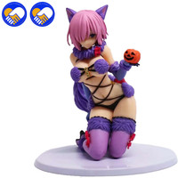 Fate Grand Order Shielder Mash Kyrielight Halloween Cosplay Model Doll PVC 13cm Japanese Anime Figurine Action Figure Adults Toy