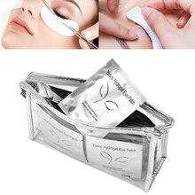Yosoo 100 пар накладки для ресниц гидрогелевые накладки для макияжа накладки на глаза подушечки для ресниц маска для наращивания без ворса гелевые накладки привитые наклейки + сумка