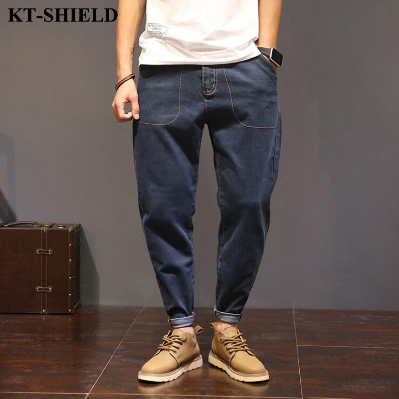 Spring Men Jeans Loose Hip hop Denim Men Trousers Casual Harem Pants Fashion Elasticity Biker Jeans