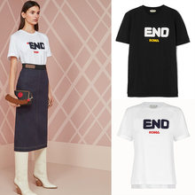b58b041a722f White Black T-shirt Women Clothes 2018 Casual Tops letter roma Printed Short  Sleeve O-neck T Shirt Femme Camiseta Mujer Tumblr