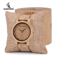 BOBO BIRD M11M12 Lovers Design Bamboo Wooden Quartz Wristwatch Handcrafted Wood Watches For Men Women As