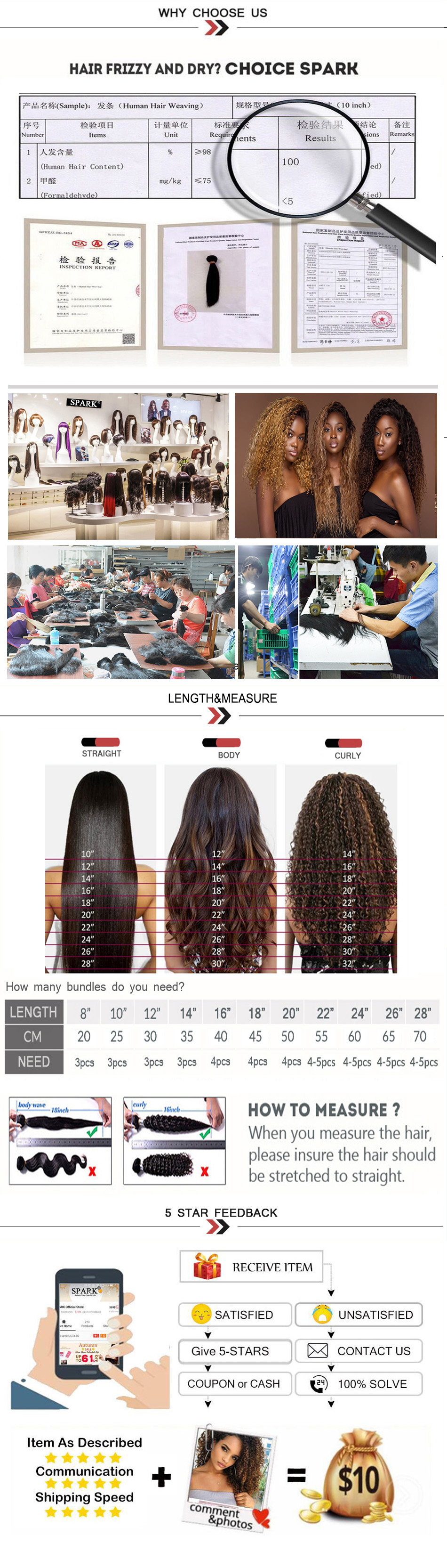 Ombre SPARK Brazilian Human Hair Weave Bundles With Closure Afro Kinky Curly Hair With Closure Medium Ratio Remy Human Hair