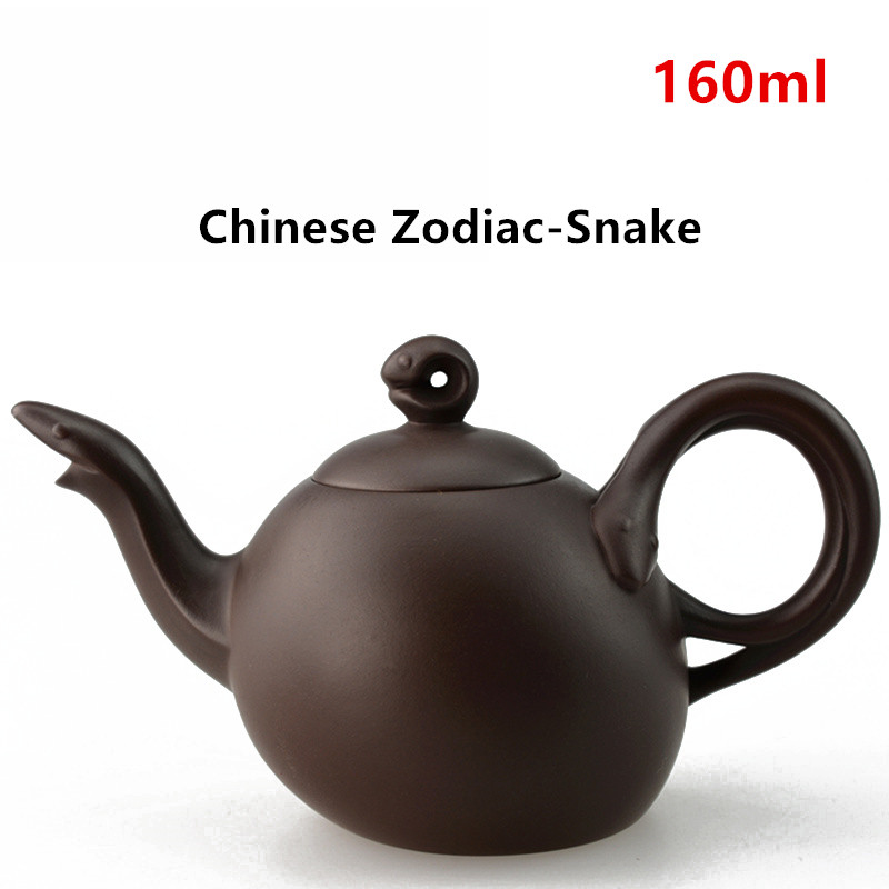 Purple Clay Tea pot Chinese Zodiac Ceramic Teapot Drinkware KungFu Tools Snake Zisha Tea Pot Set 160ml Tea Ceremony Gift-YX0312