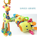 The giraffe car hanging bed the bell Infants plush bell BB tooth gum newborn baby teddy kids toy Baby Educational Toys