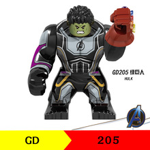 Marvel Avengers Infinity War Blocks Hulk Thanos Gloves Spider Man Gauntlet Figures For Children Model Toys