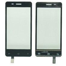 """4.5 """"タッチスクリーンデジタイザフライ IQ4403 iq 4403 携帯電話タッチスクリーンフロントガラスセンサーパネル交換ステッカー"""