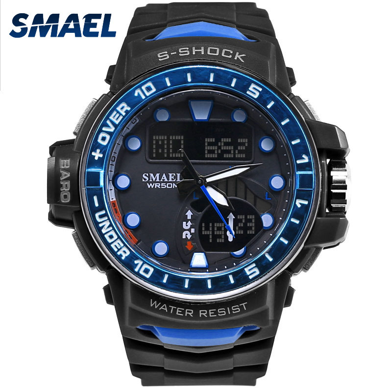 Men outdoor super watch with definition led dual display for men sport watch 5atm high for Outdoor watches