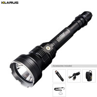 KLARUS XT30R LED Flashlight CREE XHP35 HI D4 1800LM 820M Toch Flashlight Rechargeable for Hunting torch +Battery pack