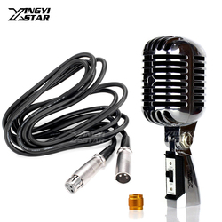 55SH II Metal Professional Vintage Microphone Dynamic Classic Retro Mic 55 sh Wired Microphones For PC DJ Controller Home Studio