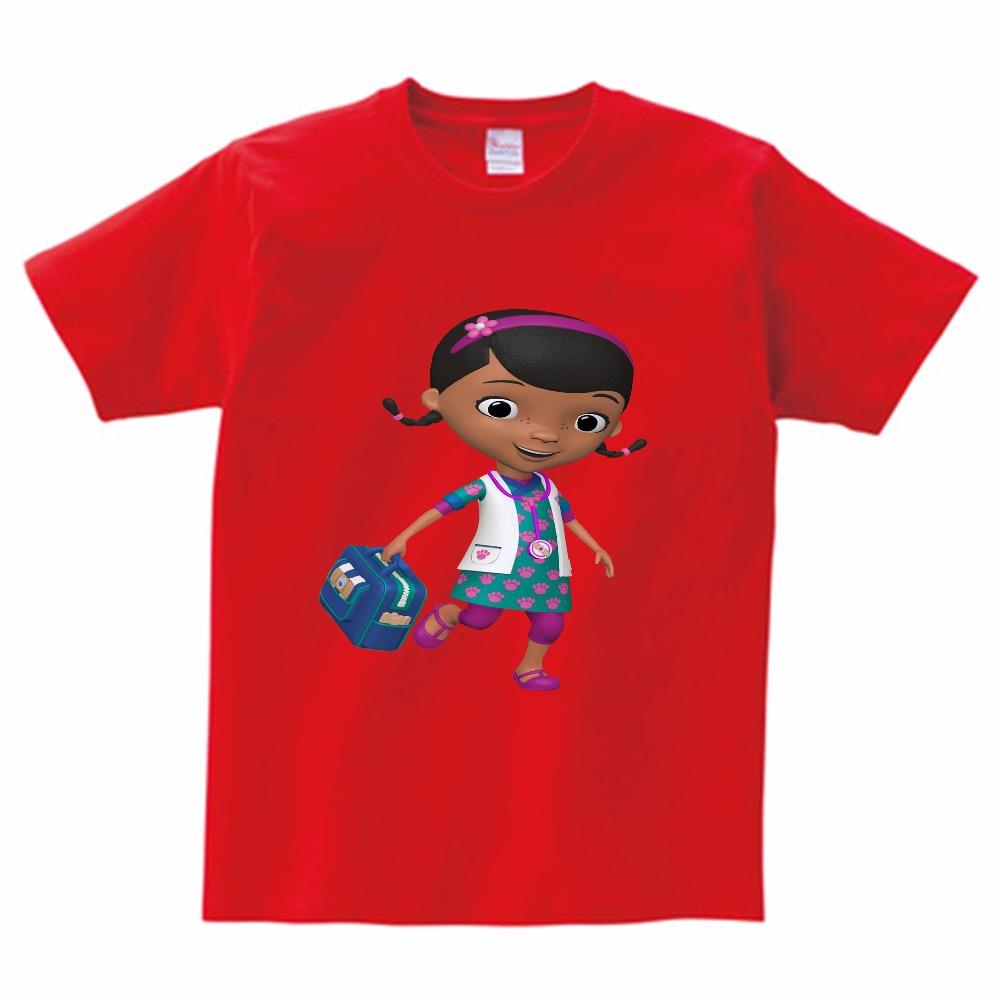 2018 New Doc Mcstuffins Kids T-shirts For Girls Cartoon Children Clothing Girls Clothes Baby Short Sleeve T Shirt Cotton Casual