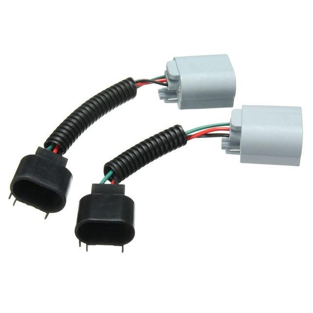 1 Paar PVS Kunststoff 3 PIN 9008 H13 Verlängerung Kabelbaum Sockel ...