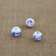ceramic colorful flower beads 10pcs/lot 10mm for DIY/handmade fashion bracelet necklace jewelry making hot sales free shipping