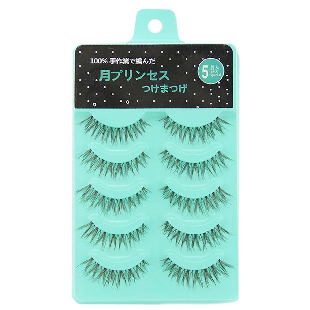 463c164a1e6 5 pairs 3D Mink Hair False Eyelashes Criss-cross Wispy Cross Fluffy length 25mm  Lashes Extension Handmade Eye Makeup Tools