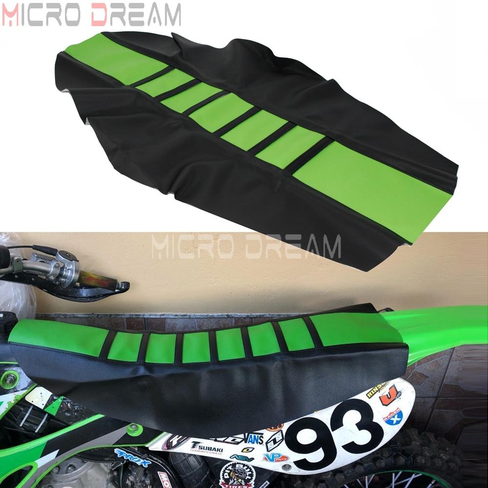 Green Dirt Racing Bike Universal Rubber Sunproof Gripper Soft Seat Cover For Kawasaki KLX KLR KX WR Yamaha Motocross ATV Quad(China)