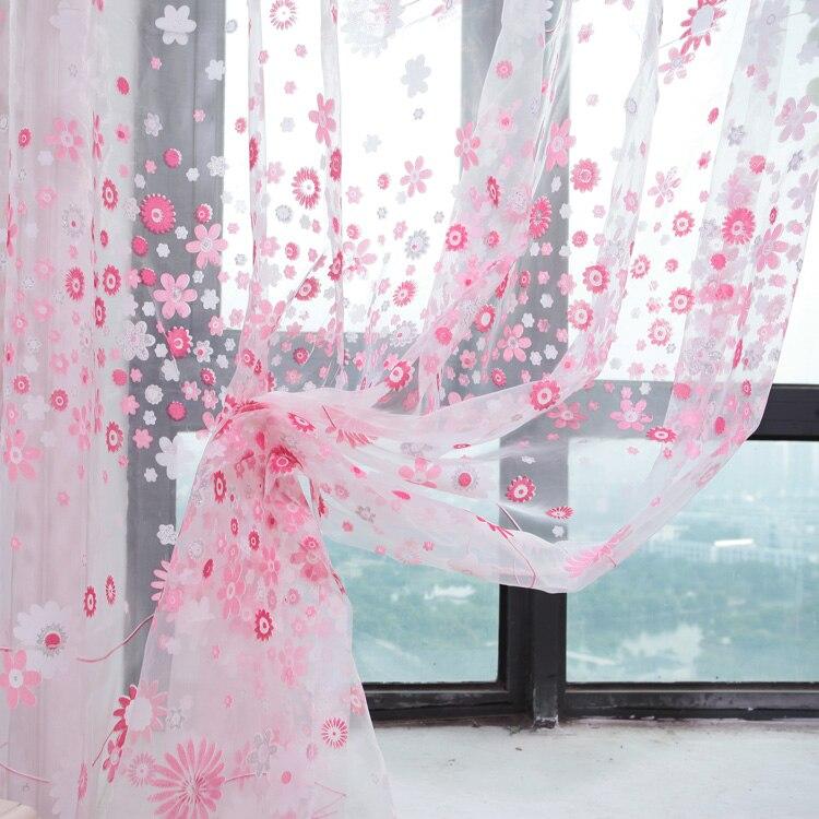Rustique fil de rideau personnaliser produits finis balcon vert rose ...