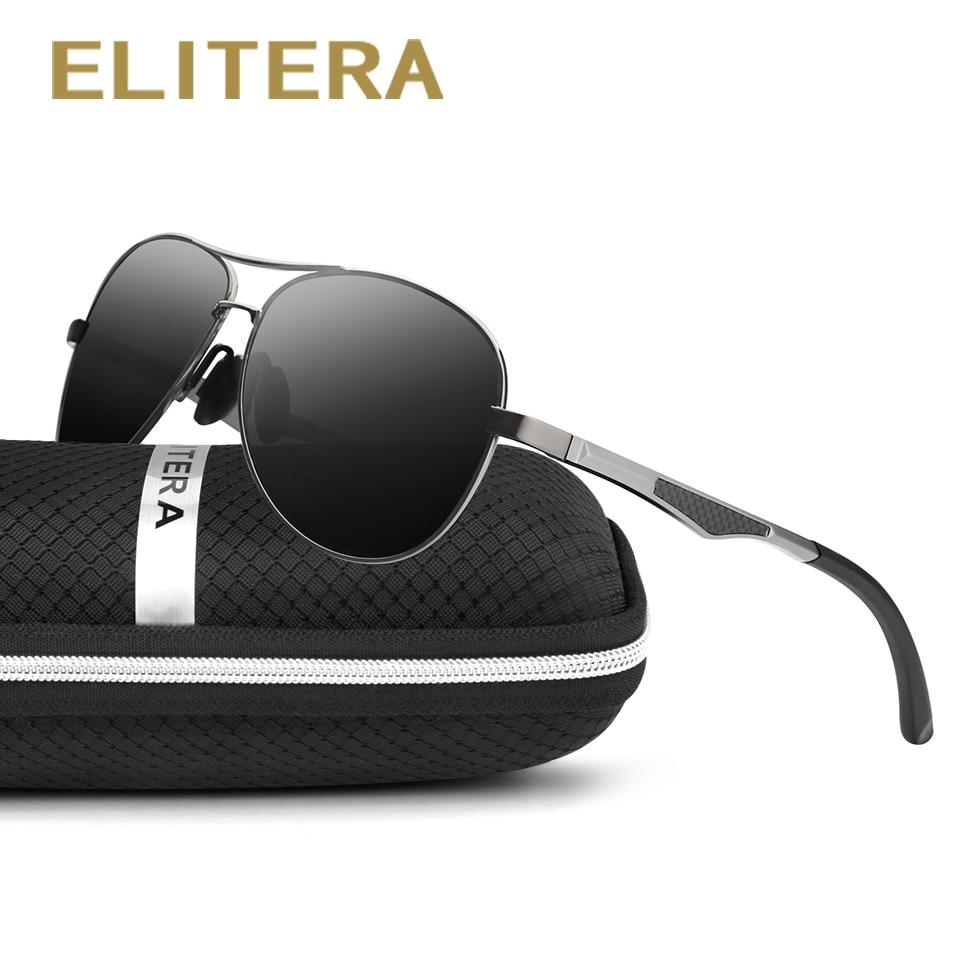 ELITERA Merk zonnebril voor heren Aluminium Magnesium poten Gepolariseerde lens Brillen Accessoires Zonnebril
