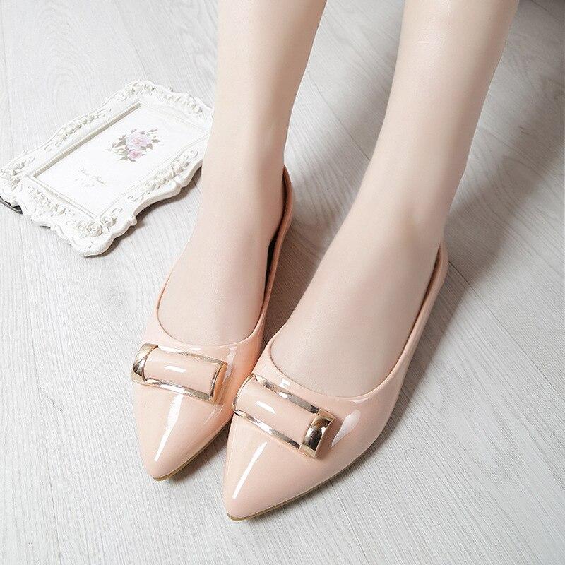 Femmes Taille Cuir rose Grande Chaussures Bouche Mode 43 Femme Nouveau De 33 Peu Brevet 2018 Casual noir Mocassins Profonde En Appartements Conduite Beige TnC5qCwB