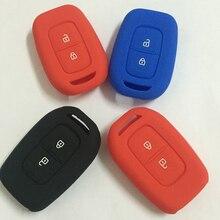 silicone car key case cover fit for Renault scenic master megane duster logan clio captur laguna