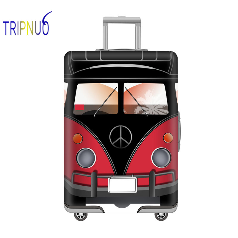 TRIPNUO Bus Elastic Thickest Luggage Suitcase Protective Cover For19-32 Inch Protect Dust Bag Case Cartoon Travel Cover