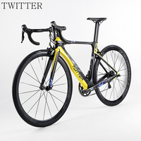 HOT 22 Speed 700C Carbon Complete Road Bicycle 3k Groupset Wheels Bicicleta Carbon Road Bike Bicycles