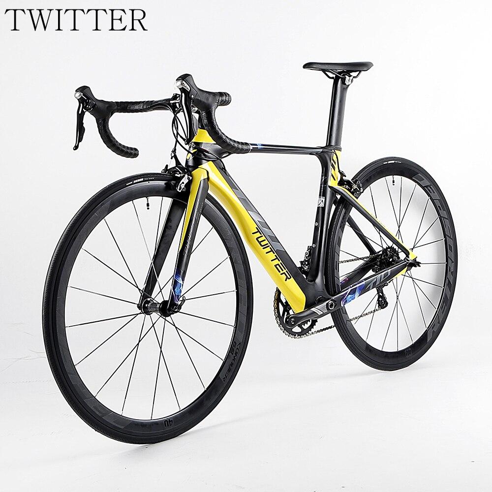 HOT 22 speed 700C Carbon complete road Bicycle 3k groupset wheels bicicleta Carbon road bike Bicycles OG-EVKIN