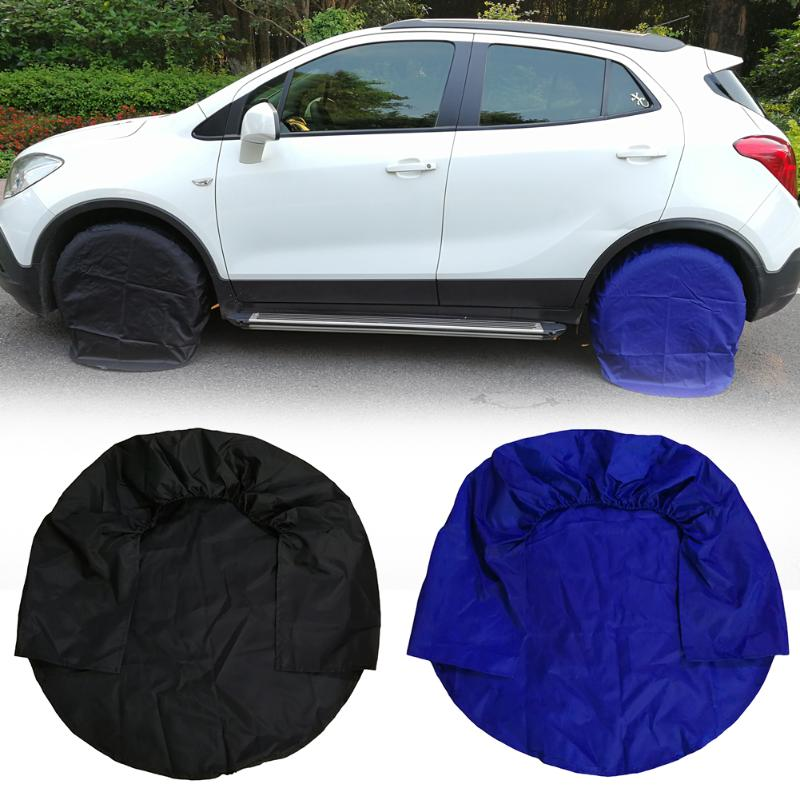 Image 2 - 4pcs 32inch Wheel Tire Covers Case Car Tires Storage Bag Vehicle Wheel Protector for RV Truck Car Camper Trailer car styling-in Tire Accessories from Automobiles & Motorcycles