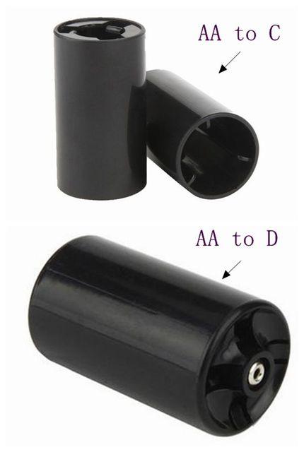 Aipinchun 5 pièces AA À C + 5 pièces AA À D Taille Batterie Convertisseur Adaptateur de Support Adaptateur Cas Commutateur