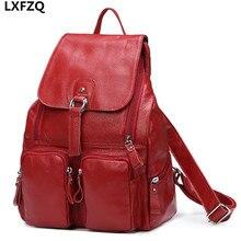 Mochila feminina рюкзаки для девочек-подростков для ноутбука Из Натуральной кожи рюкзак школьные сумки женская пространство рюкзак моды рюкзак