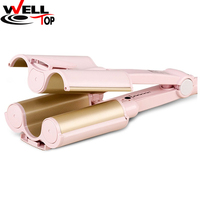 360 Degree Rotating Ceramic Barrel Deep Waver Hair Curler Wavy Curling Tool