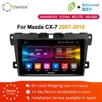 Ownice K1 K2 K3 Android 9.0 2 din Car DVD radio stereo multimedia Player For Mazda CX7 CX 7 CX 7 2007 2010 headunit GPS navi