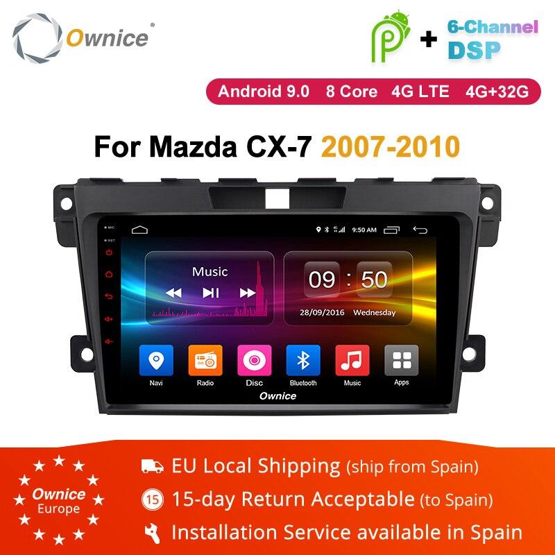 Ownice K1 K2 2 K3 Android 9.0 din Car DVD radio stereo multimedia Player Para Mazda CX CX7 CX-7 7 2007-2010 unidade central GPS navi