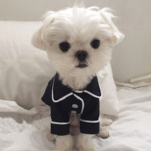 Купить с кэшбэком Spring Yorkshire Pajamas Pet Dog Clothes for Small Dogs Pets Clothing Chihuahua Summer Jacket Pug Costume Poodle Outfit S-XL