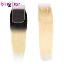 bling hair #613 Blonde Remy Human Hair Closure 4*4 Brazilian Straight