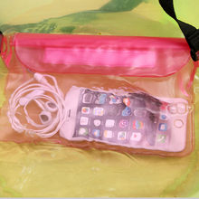 Trendy Triple Sealed Waterproof Bag Phone Outdoor Jacket Drifting Swimming Bags PVC Waist Pockets LKS99(China)
