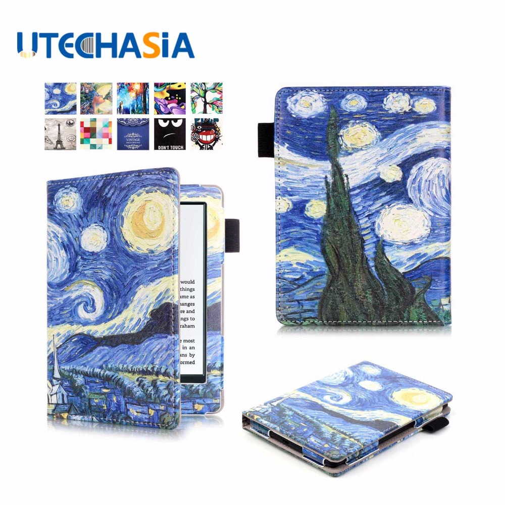 New PU Folio Flip Magnetic Stand Leather Protective Case Skin Shell Cover For Amazon Kindle 2016 6 inch Ebook Reader  slim fit folio flip pu leather case cover skin back case for amazon all new kindle 6 display 8th gen 2016 release