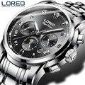 Плавать 50 м автоматические механические часы спортивные мужские LOREO лучший бренд класса люкс мужские наручные часы модные повседневные муж...