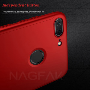 Image 5 - 高級 360 フルカバー電話ケースに Huawei 社の名誉 9 9 Lite 8X 最大 7A 7C プロ強化ガラス保護カバー 7A 9 Lite のケース