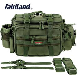 43*20*22cm torba wędkarska mężczyźni wielofunkcyjna duża pojemność schowek na przynętę torby na zewnątrz talii pokrowiec na torbę na ramię Reel Tackle plecak w Torby wędkarskie od Sport i rozrywka na