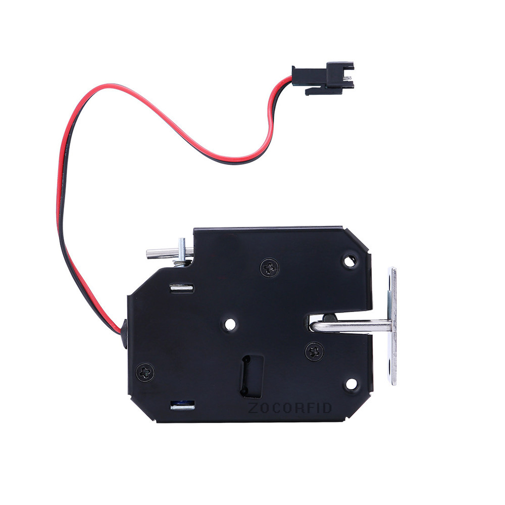 DC-12V Electrical Lock Picks Latch Electromagnetic Lock For Electronic Locker Smart Cabinet Lock With Bouncer Status Detection