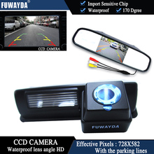 FUWAYDA CCD Chip Car RearView Camera for Toyota HARRIER / ALTEZZA / PICNIC / ECHO VERSO / CAMRY+4.3 Inch rearview Mirror Monitor