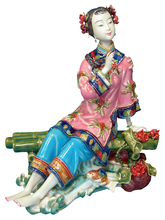 Antique Chinese Ceramic Statue of Xishui Manual Figure Figurine Sculpture Arts Collectible Crafts Porcelain for Christmas Gifts