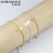 Trendy Stainless Steel Gold Silver Chain Charm