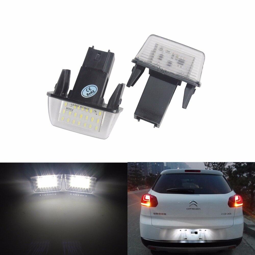Us 1296 8 Offangrong 2x Led Oświetlenie Tablicy Rejestracyjnej Licencji Dla Peugeot 206 207sw 306 307 308 406 407 5008 Mpv Partner Ca215 W Lampy