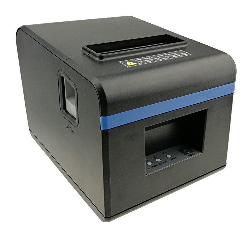 Haute qualité 80mm thermique reçu facture imprimantes cuisine Restaurant POS imprimante avec fonction de coupe automatique aspect élégant