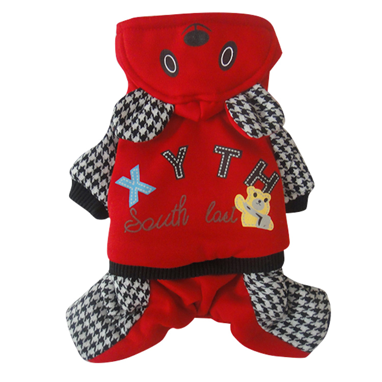 Cute bear Dog cat Pet cotton padded Jacket Coats clothes Winter warm dog puppy jumpsuit snow suit small dog costume clothing