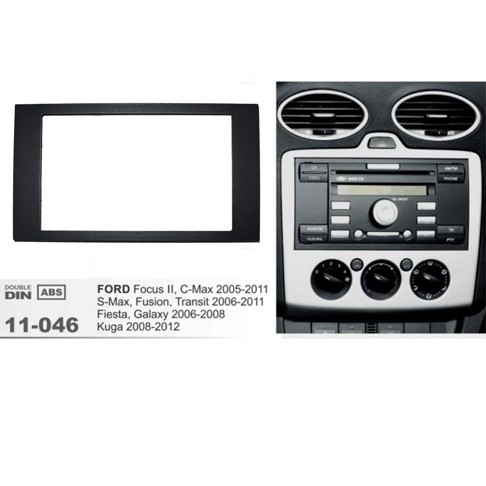 11 046 car radio fascia for ford focus ii c max s max fusion fiesta frame kit 2005 2011 dash. Black Bedroom Furniture Sets. Home Design Ideas