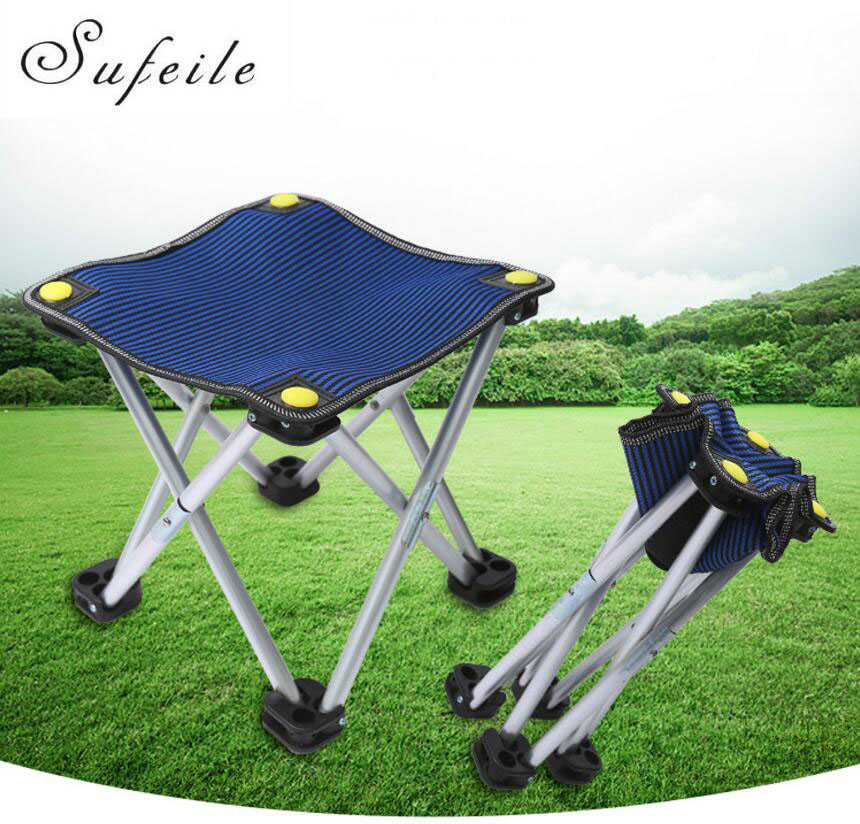 SUFEILE Outdoor camping fishing light weight Aluminum Alloy portable folding Fishing Chair Portable Folding chair D20 aluminum alloy portable folding chair