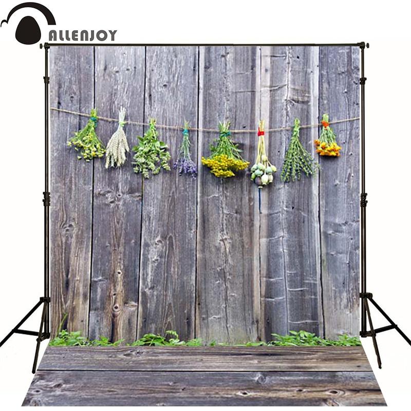 Allenjoy Photographic background Plank wood wall flower christmas village newborn vinyl backdrops photography cute